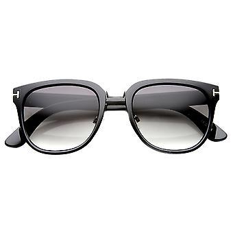 Metall T-genietet gehörnten umrandeten klassische Sonnenbrille überbrückt
