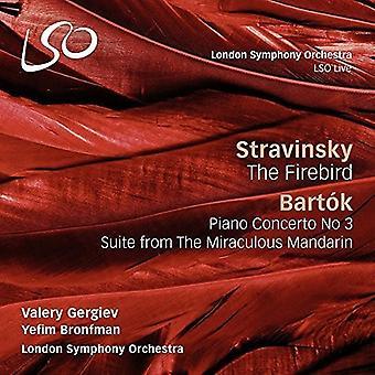 Bartok / Bronfman / London Symphony Orchestra - Stravinsky: Firebird / Bartok: Piano Concerto No 3 [CD] USA import