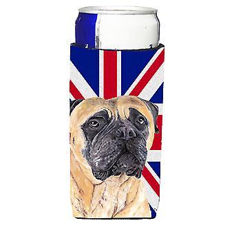 Dogge mit englischen Union Jack britische Flagge Ultra Getränke Isolatoren für schlanke