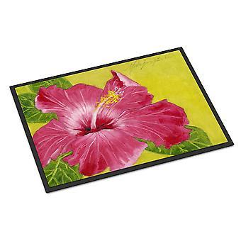 Hot Pink Hibiscus by Malenda Trick Indoor or Outdoor Mat 24x36