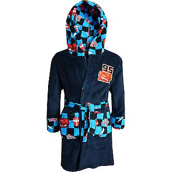 Boys DHQ2094 Disney Cars Fleece Hooded Dressing Gown