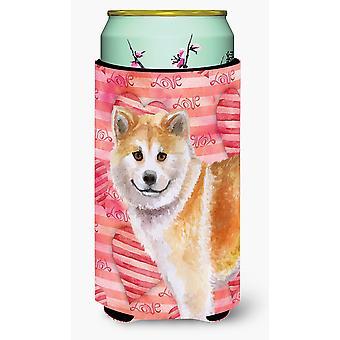 Carolines tesori BB9765TBC Shiba Inu amore Tall Boy Beverage isolante Hugger