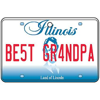 Illinois - Best Grandpa License Plate Car Air Freshener