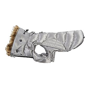 Kruuse Buster Quilted Active Dog Coat With Faux Fur Trim