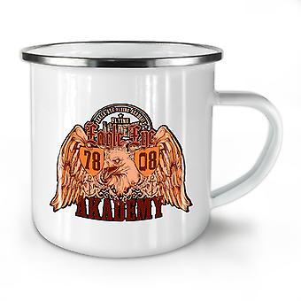 Eagle Eye Academy NEW WhiteTea Coffee Enamel Mug10 oz | Wellcoda