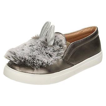 Flekk på barnassmåbarn jenter Glitter sløyfe stroppen sko