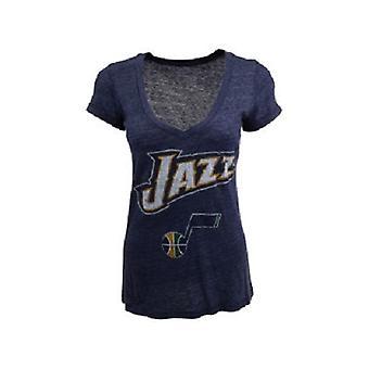 Utah Jazz NBA Majestic Tri-Blend V-Neck Tee