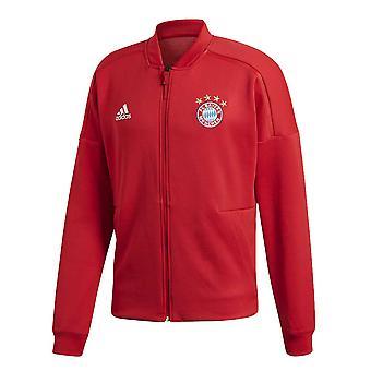 2018-2019 Bayern Monachium hymn Adidas ZNE kurtka (czerwony)