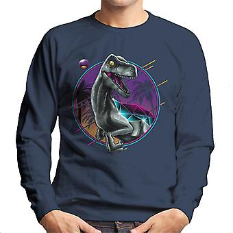 Jurassic World Rad Velociraptor Retro 80s Men's Sweatshirt