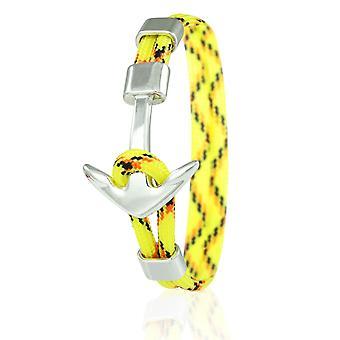 Skipper ancoraggio Bracciale 21 cm in nylon Bracciali in giallo/colorato con ancoraggio d'argento 6967