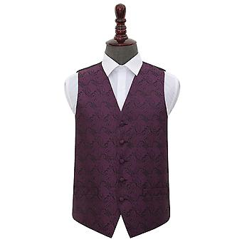 Purple Paisley Wedding Waistcoat