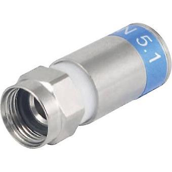F-compressie plug EMF 12 SAT kabeldiameter: 7 mm