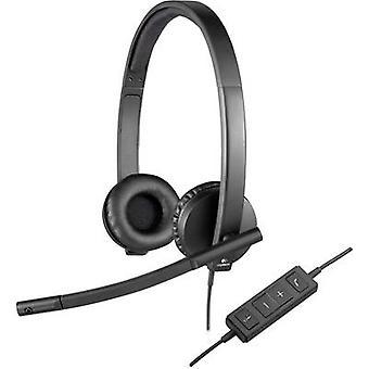 Logitech H570e PC headset USB Stereo, Corded Over-the-ear Black