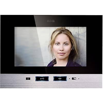 m-e moderno-elettronica VDV 507 SS porta videocitofono con filo interno pannello staccato nero, in acciaio inox