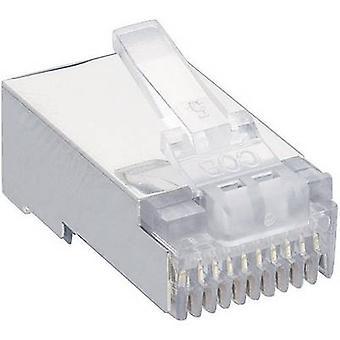 Lumberg P 303 S modulära Hankontakt 10p10c RJ48 kontakt, straight Transparent
