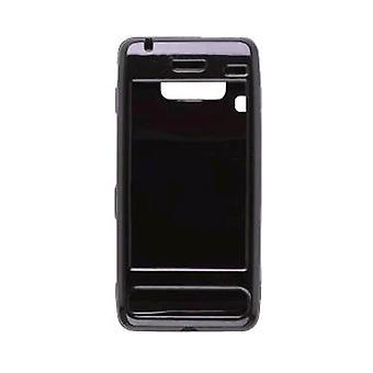 Rubberized Snap-On Case for LG Fathom VS750 - Black