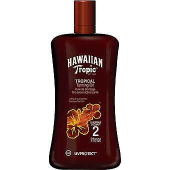 Hawaiian Tropic Tropical solkrem olje SPF 2 intense 200 ml