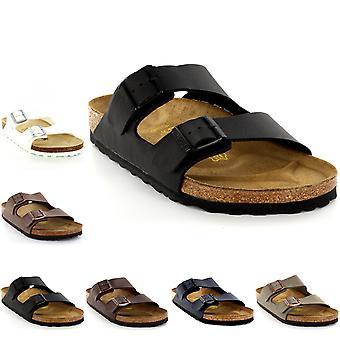 Mens Birkenstock Arizona Leather Buckle zomer vakantie strand sandalen