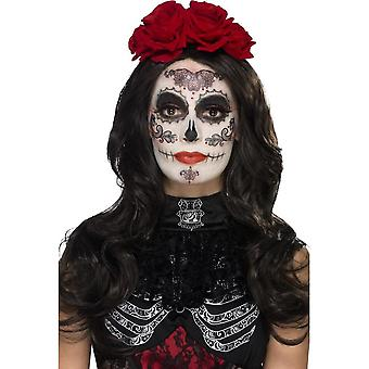 Smiffy's Day Of The Dead Glamour Make-Up Kit, With, Black