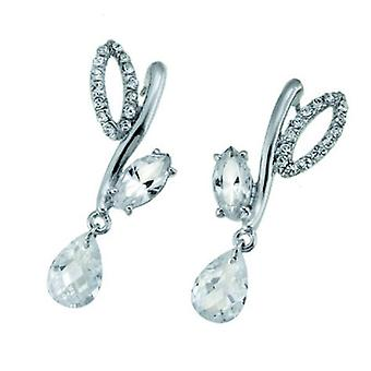 Oliver Weber Post Earring Meriva Rhodium Crystal