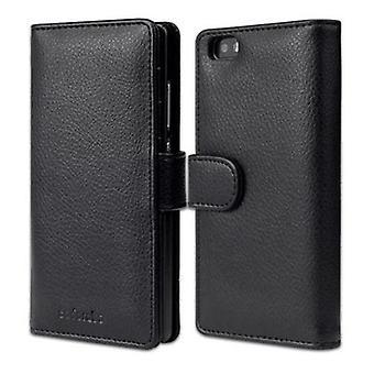 Cadorabo Estuche para Huawei P8 LITE 2015 Funda de caso - Funda de teléfono con cierre magnético y 3 ranuras para tarjetas - Funda de funda de la funda caso Caso de libro plegable estilo plegable