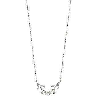 Elements Silver Flower Bud Necklace - Silver