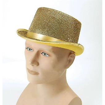 Top hat. Gold Lurex.