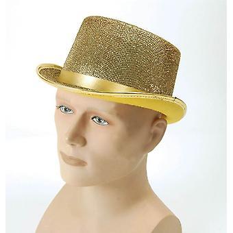 Top hat. Lurex złoty.