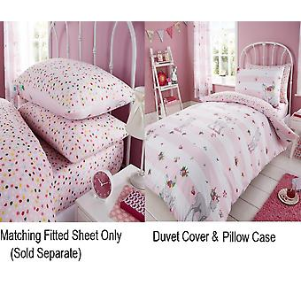 Åh enkelt hjorte piger børn dyne Quilt dækning børn Rotary sengetøj sæt