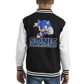 Sonic The Hedgehog Gotta Go Fast Kid's Varsity Jacket