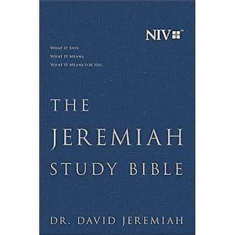 The Jeremiah Study Bible, Niv: (Navy) Cloth Over Board: What It Says. What It Means. What It Means for You.