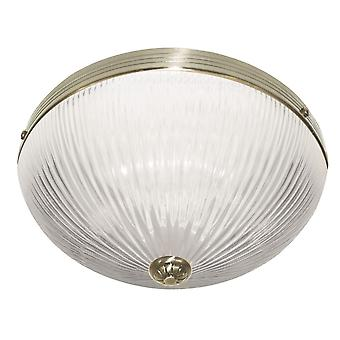 Windsor Ii Antique Brass pojedynczy Flush z selera szkło - Searchlight 4772AB
