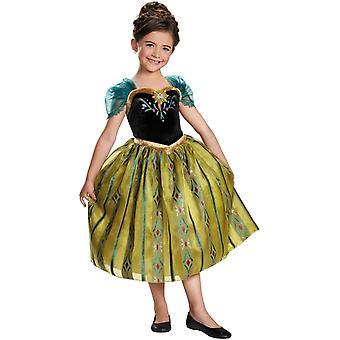 Ana congelados traje de coronación infantil