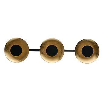 Glasberg - refletor LED parede luz três na barra em Matt 452024603 preto e dourado