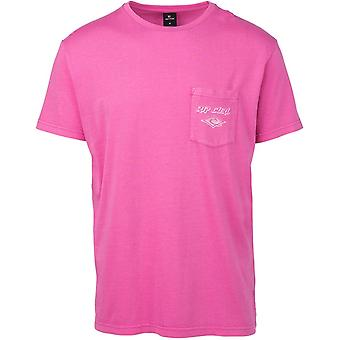 Rip Curl So Authentic Short Sleeve T-Shirt in Pink