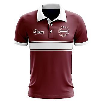 Łotwa koncepcja koszula Polo z paskiem (Maroon)