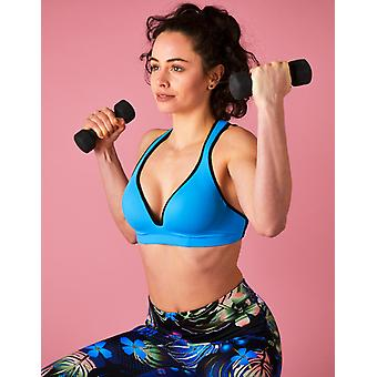 Blue Sports Bra Leilani - Gym To Swim®