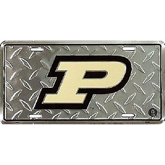 Purdue Boilermakers NCAA «Diamond» plaque d'immatriculation
