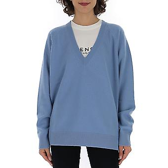 Givenchy Bw906h4z450 Frauen's hellblau Wolle Pullover