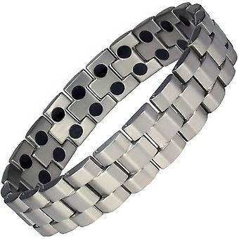 MPS® ANDAR Gunmetal Titanium Bracelet magnétique + liens Free Removal Tool