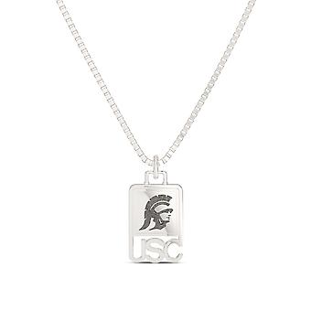 University of Southern California Pendant Necklace In Sterling Silver Design by BIXLER