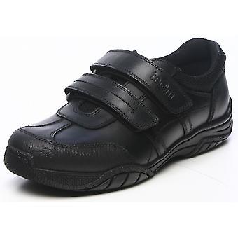 Term Boys Chivers Scuff Guard School Shoes Black