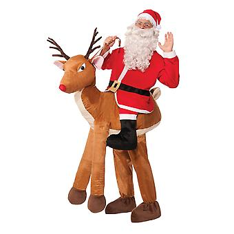 Bristol Novelty Unisex Adults Santa Ride-A-Reindeer Costume