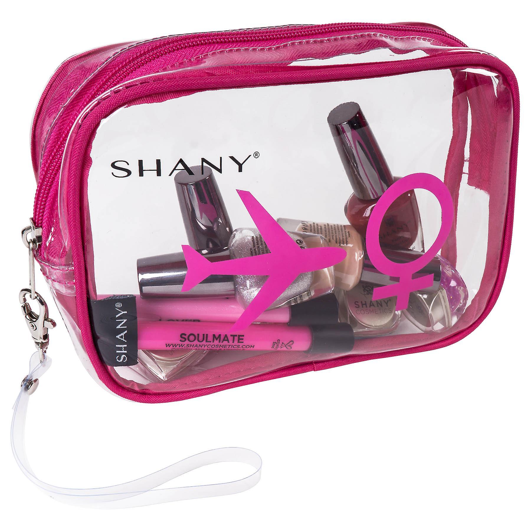 SHANY Son - Hers TSA Approved Airline Friendly Clear Carry-on Toiletry Travel Bags - Organisateur personnel - Résistant à l'eau - Ensemble de 2 Pour les couples