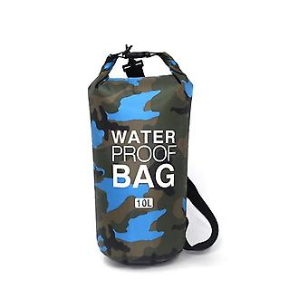 Waterdichte tas 10 L, camouflage-licht blauw