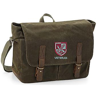 16 Air Assault Brigade Veteran - Licensed British Army Embroidered Waxed Canvas Messenger Bag