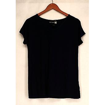 Antthony T-Shirt Top Stylish & Sensational Basic Tee Blue Womens 503-571