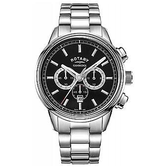 Rotary | Men's Cambridge Chronograph | Black Dial | Stainless Steel GB05395/04 Watch