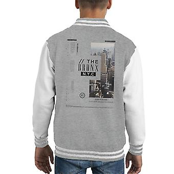 Divide & Conquer The Bronx NYC Kid's Varsity Jacket