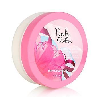 حمام والجسم يعمل الوردي الشيفون الرطوبة المكثفة زبدة الجسم 7 أوقية / 200 غرام (2 حزمة)
